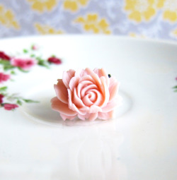 Tea Rose Blush Floral Ring - JEWELSALEM