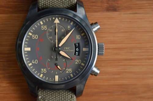In our first Week On The Wrist review of the newly designed HODINKEE, Mr. John Mayer expertly critiques the new Pilot's watch from IWC. Story here, only on HODINKEE.