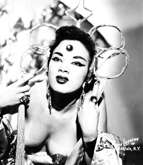 Make-up and style icon, Tura Satana taught me to pile it on up top and let loose everything down below.