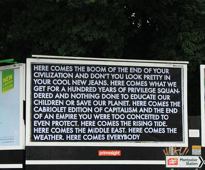 Robert Montgomery for Brandalism