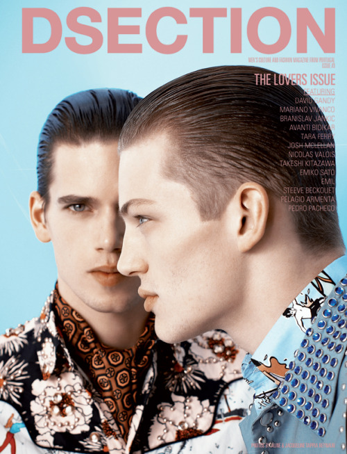 inamirror: Mark Cox & Sebastian Sauve for DSection #4: The Lovers Issue by Aline & Jacqueline Tappia