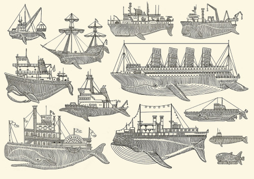 "liquid-proof:  "" Whale Boats ""  ……   Screen Print by Artist:  Kyler Martz"