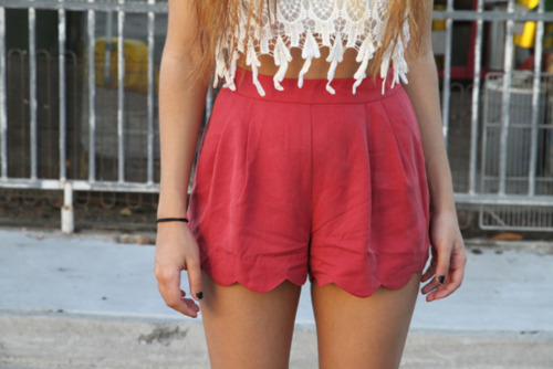scalloped shorts ahhhhh