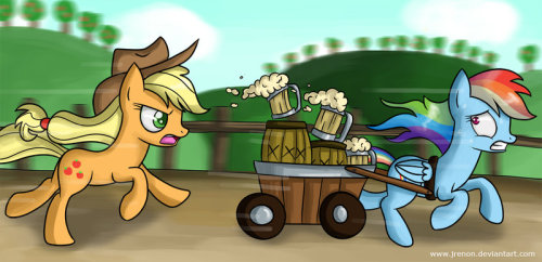 theponyartcollection:  The Cider Chase by ~Jrenon