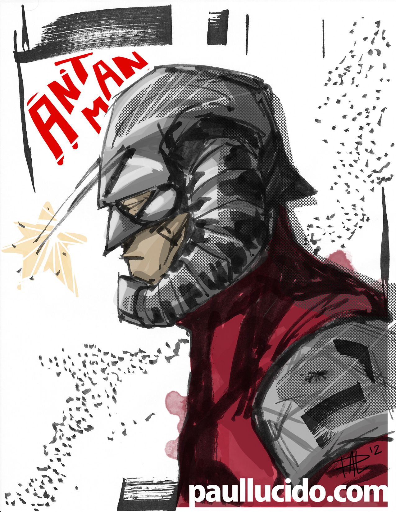 ANT MAN! I did this with ink, watercolor and photoshop
