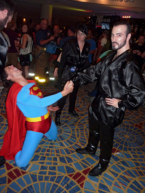 Superman vs. Zod (and Ursa), Dragon*Con 2011.