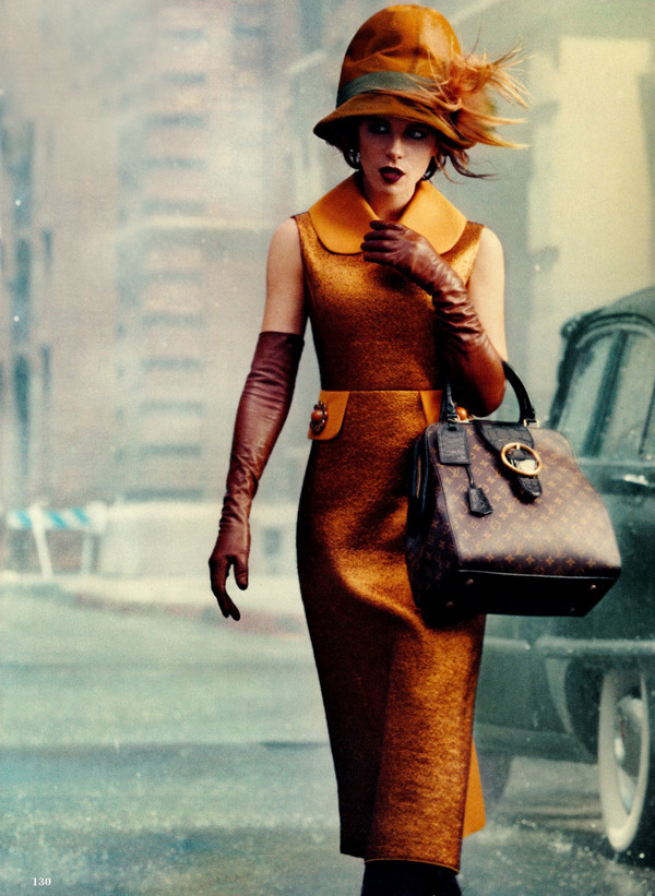 thegeniusoffashion:    Norman Jean Roy / Allure August 2012.  Love the hat, love the bag, love the gloves, I'm sure I'd love the shoes too, if I could see them!
