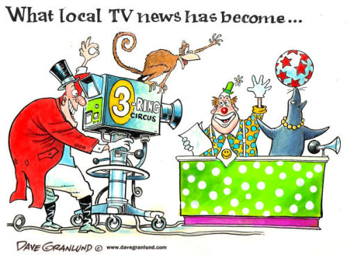 """If you watch local news, your head will turn to mush."" ~ Ray Bradbury"