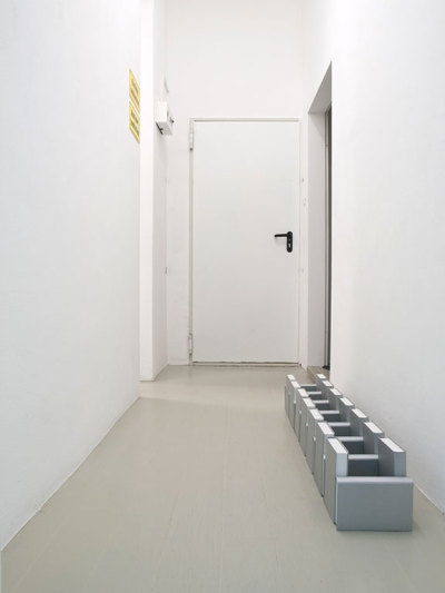 "lafilleblanc:  Francesca Nobilucci @ WCW Gallery ""The Untitels"", 2010 Dummy books, silver card and cardbords (via)"