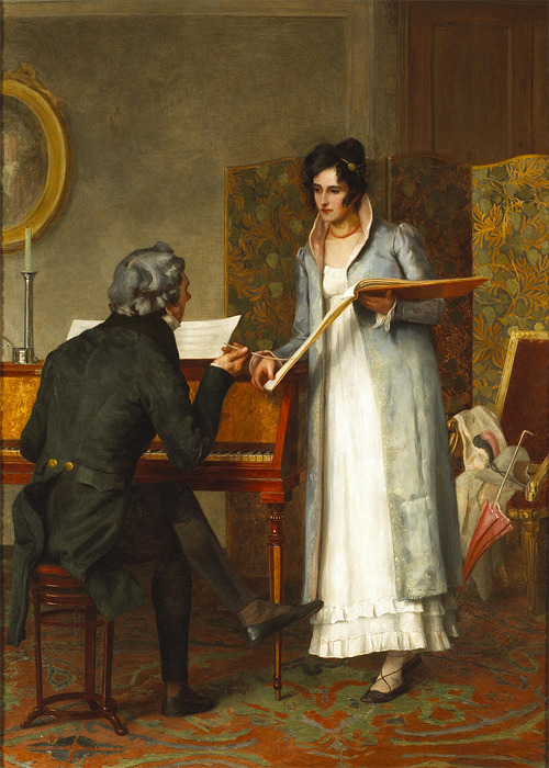 Henry Stacy Marks - The music lesson [1874]