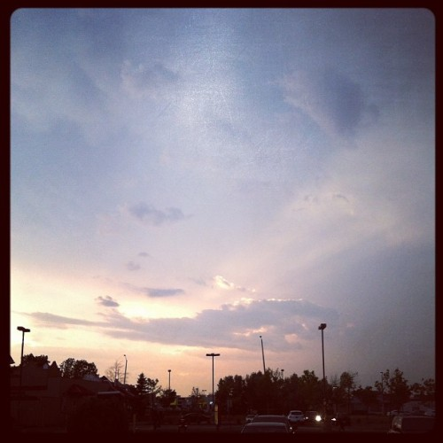 From yesterday after dinner, pretty sky (Taken with Instagram)