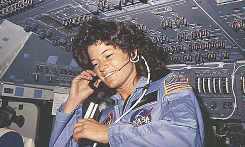 "American Woman Who Shattered Space Ceiling - NYTimes RIP Sally Ride, first American woman in space. ""Speaking to reporters before the first shuttle flight, Dr. Ride — chosen in part because she was known for keeping her cool under stress — politely endured a barrage of questions focused on her sex: Would spaceflight affect her reproductive organs? Did she plan to have children? Would she wear a bra or makeup in space? Did she cry on the job? How would she deal with menstruation in space? The CBS News reporter Diane Sawyer asked her to demonstrate a newly installed privacy curtain around the shuttle's toilet. On ""The Tonight Show,"" Johnny Carson joked that the shuttle flight would be delayed because Dr. Ride had to find a purse to match her shoes."""