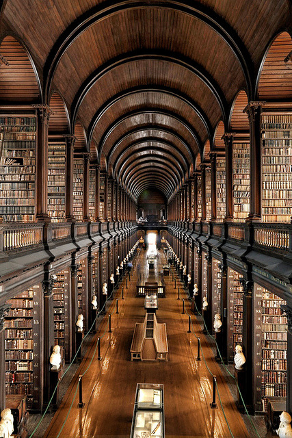 visitheworld:  Trinity College Library at University of Dublin, Ireland (by Brett Jordan).