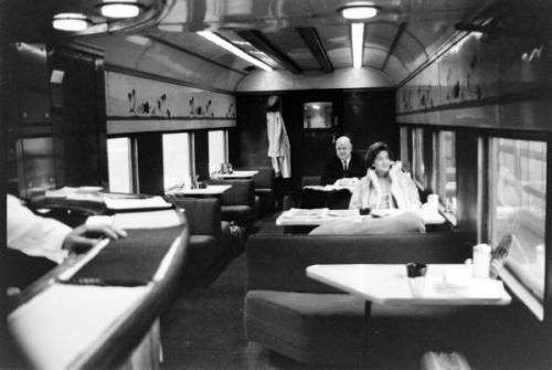 calumet412:  The Bar Car on the Chicago North Shore Electric Line, 1968, Chicago. Francis Miller.  FILM: The Last Pullman Car