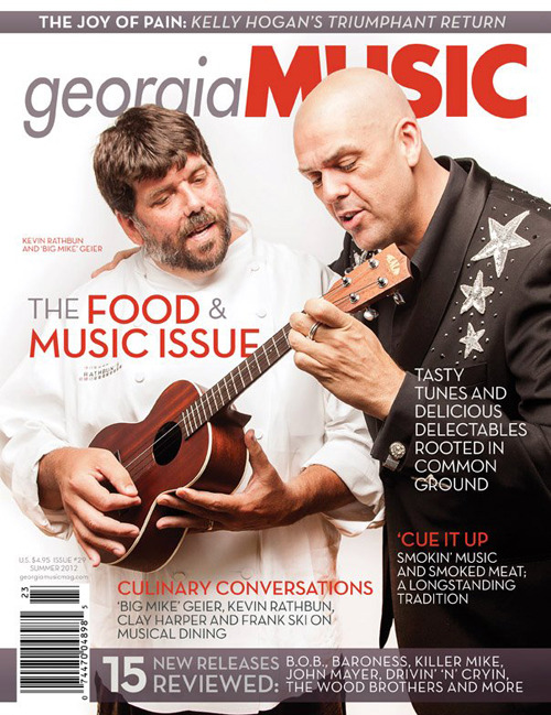 Georgia Music Magazine food and music cover with Kevin Rathbun and Big Mike.