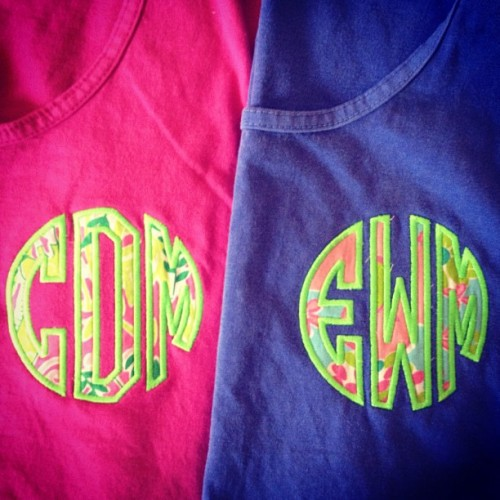 thegirlwhofelldownthehole:  big and little matching Lilly tanks (Taken with Instagram)