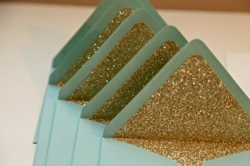 DIY Glitter Envelopes
