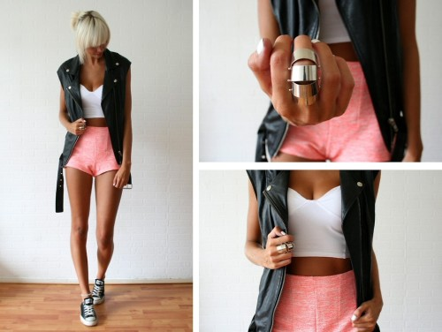 lookbookdotnu:  Sporty neon (by Sietske L)