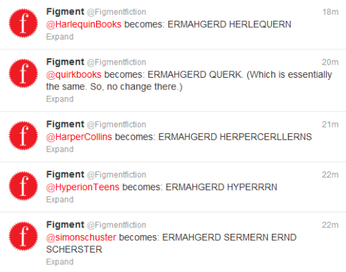 figmentdotcom:  Tumblr? I blame you for this.  ERMAHGERD FERGMENT