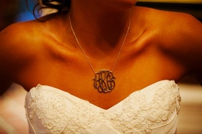 loveforweddings:  Monogram necklace with new family initials