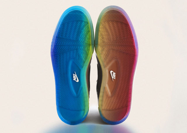 "Nike Unveils Rainbow Pride Footwear, Inspired by the LGBT Community ""As part of their 2012 BE TRUE campaign, Nike has launched the BE TRUE Pride Pack, footwear (and tees) inspired by the LGBT community."" Like?"
