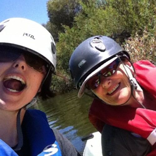 Kayaking in the LA River!!! I touched the water!!!! / on Instagram http://instagr.am/p/NemDv6lA3V/