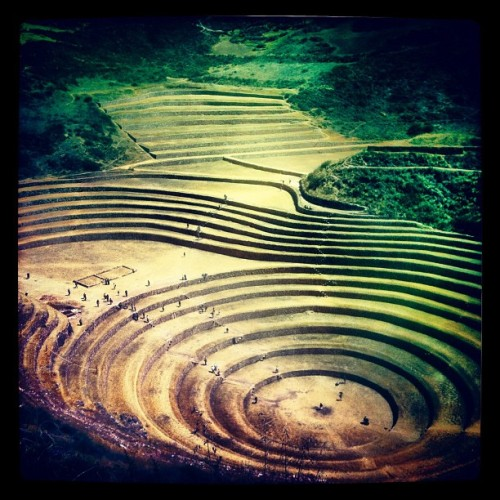 moray  (Taken with Instagram at Conjunto Arqueológico de Moray)