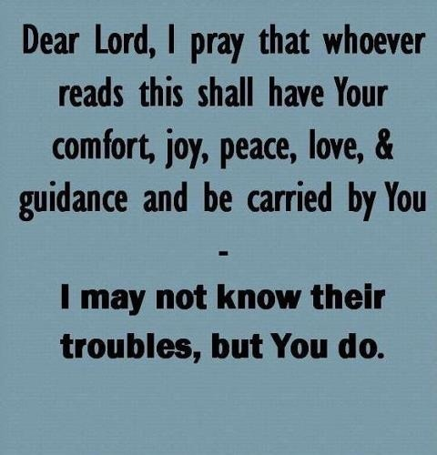 that's my prayer..