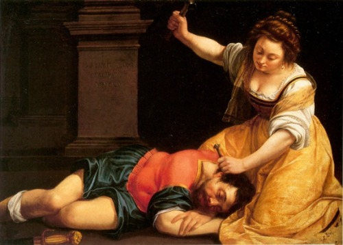 piccolagalleriaportatile:  Artemisia Gentileschi, Yael and Sisera, 1620 : chaussonsrouges.wordpress.com