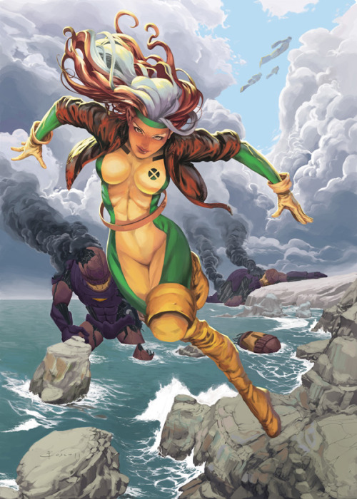 Rogue by ~boscopenciller —-x—- More: | Marvel | Random |