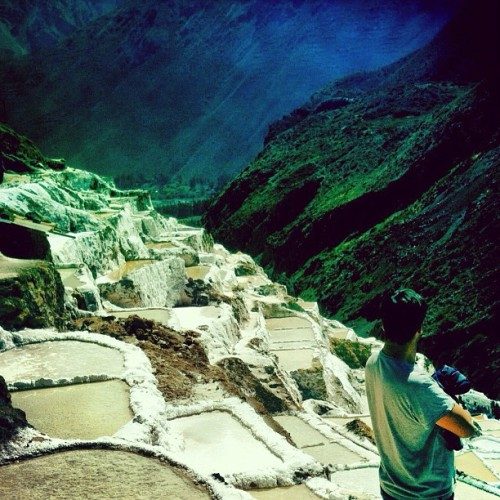 salt pools of the sacred valley (Taken with Instagram at Las Minas de Sal de Maras)