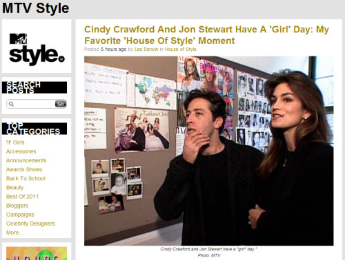 liza-likes:  My Favorite House of Style Moment: Cindy Crawford, Jon Stewart, and pretty much everything amazing about the '90s.