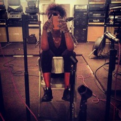 justineskye:  I'm on one .. #rehearsal #skyehigh (Taken with Instagram)