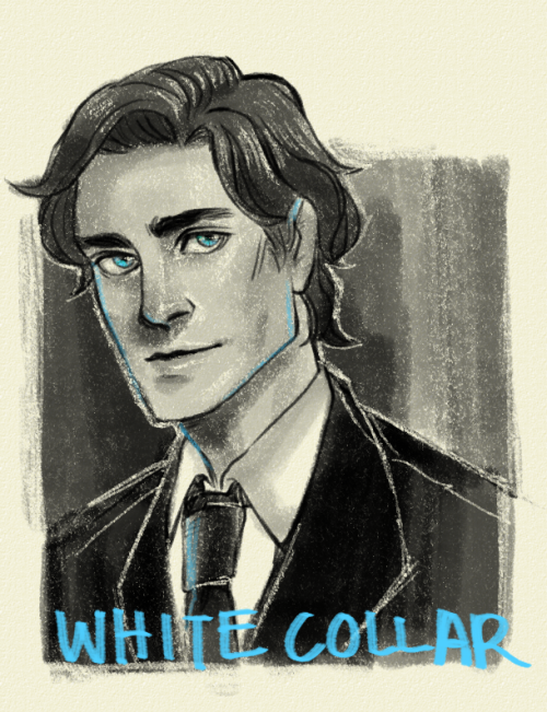 ninthrevolver:  Re-watching White Collar because I forgot everything that happened, also I never watched all of it!!!! CRIES!!! ALSO MATT BOMER'S BEAUTIFUL FACE………..  I REALLY LIKE THE WAY THE BLUE IS INCORPORATED INTO THIS. ALSO THE PASTEL(?) TEXTURE.