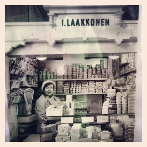 Vintage photo of Helsinki market 1970th (Taken with Instagram)