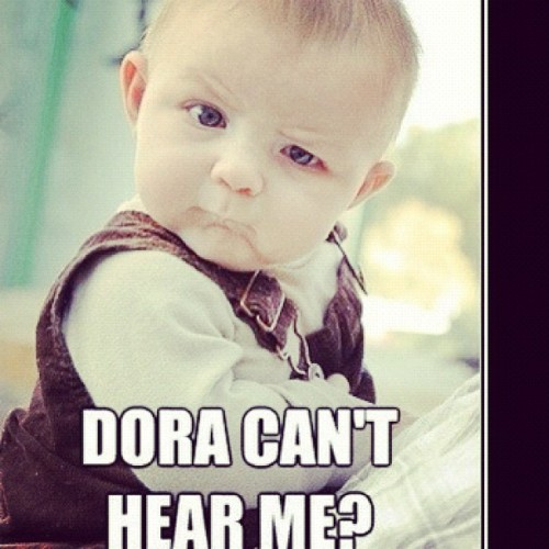 nickthomasdgaf:  #baby #funny #tv #dora (Taken with Instagram)