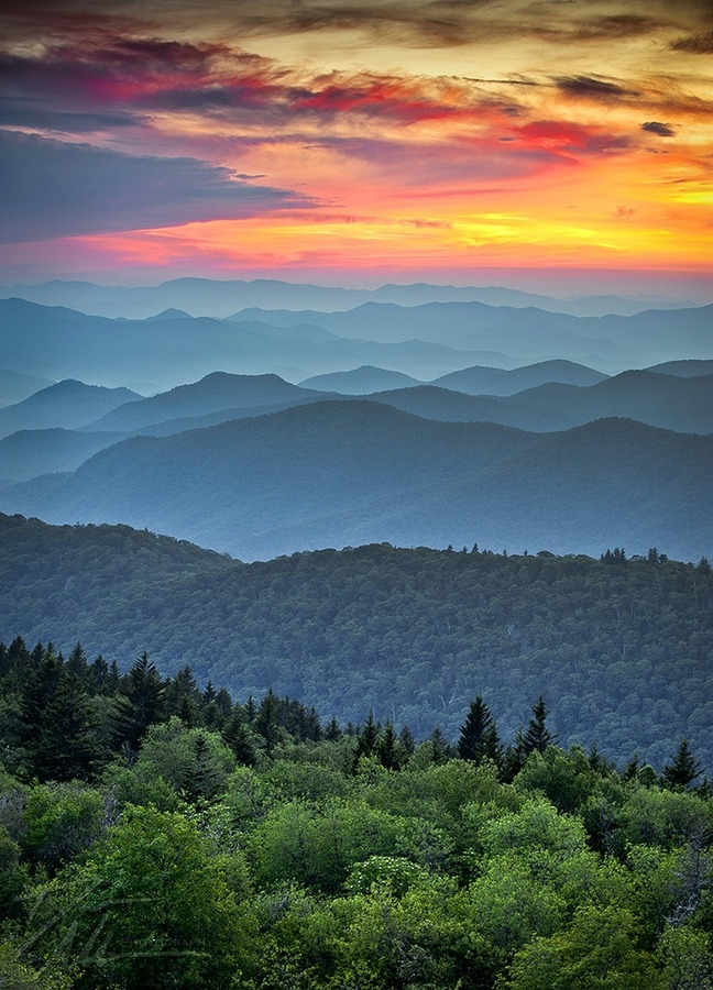 gaksdesigns:  Blue Ridge Parkway Sunset