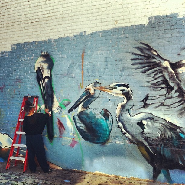 #toronto #graffiti #birds (Taken with Instagram)