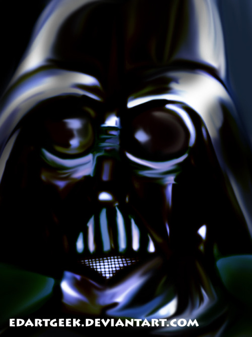 This is a Darth Vader portrait that I made last year.