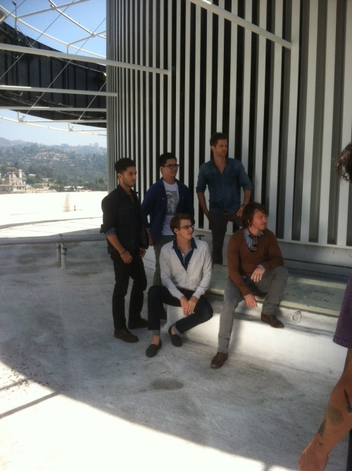 Quick photo shoot atop the Capitol building before recording the Tenth Avenue North iTunes Session. (Hey Jeff - is that an astronaut?)