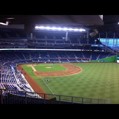 """Business Over Baseball"" w the @MiamiChamber at @Marlins stadium…. @SocialBuzzTV (Taken with Instagram at Marlins Park)"