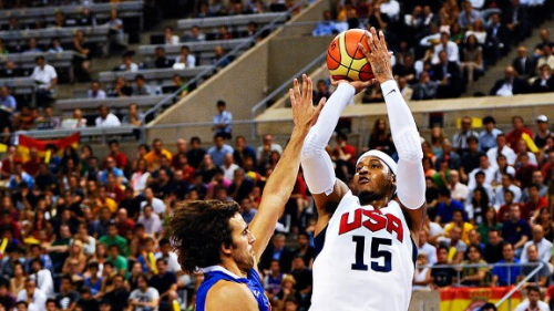 U.S. edges Spain in exhibition