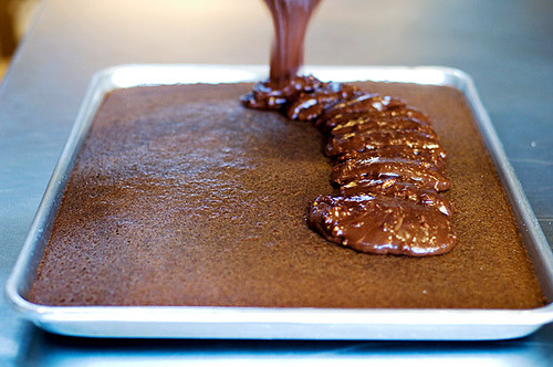 The Best Chocolate Sheet Cake. Ever.  (I love the Pioneer Woman, her recipes, her blog, her show, her cookbooks)