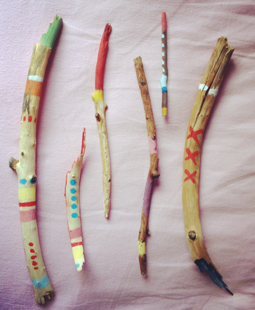 i-am-madelynn:  i-am-madelynn:  i painted these stick-friends a while ago. looking at them makes me happy.  just putting these here again bc painted sticks, c'mon they're adorable