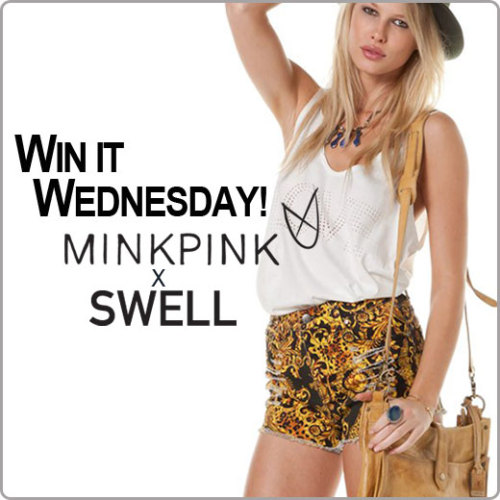 Happy Win It Wednesday… Today Mink Pink is giving away a pair of their printed, high-waisted Outrageous Fortune Shorts! Check out more from Mink Pink Fall HEREENTER TO WIN HERE