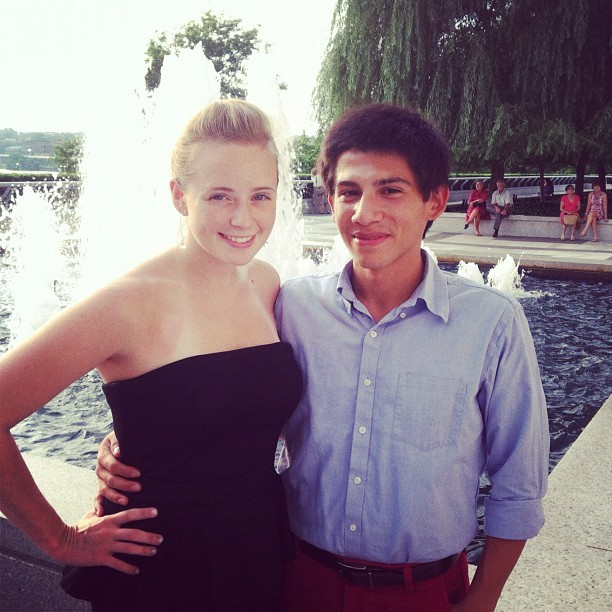 My beautiful brother and sister at the Kennedy Center (Taken with Instagram)
