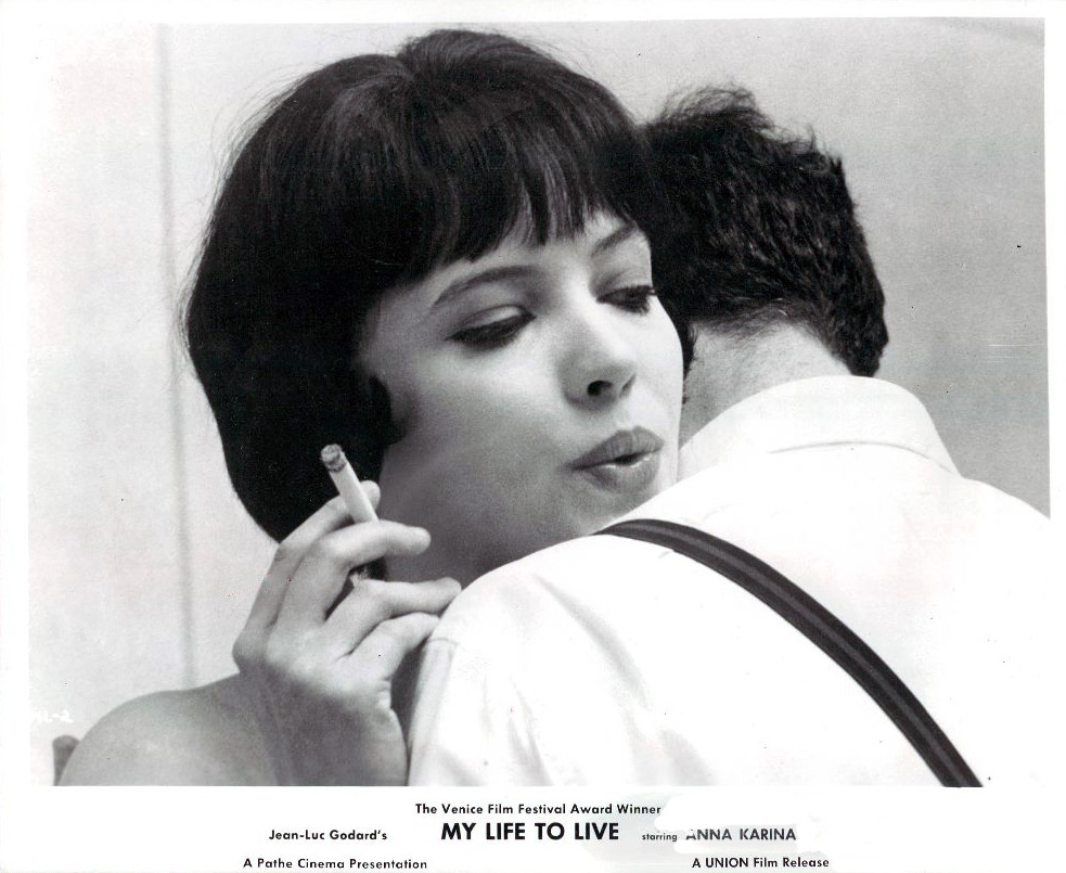 American lobby card for Vivre sa vie, 1963.