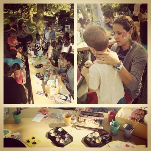 Today we painted lots of super cute faces! (Taken with Instagram)