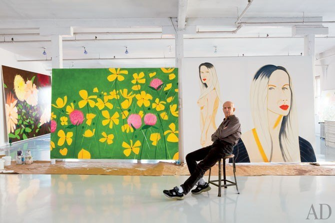 In honor of Alex Katz's birthday, AD revisits his SoHo apartment and studio. Click here to tour his loft.