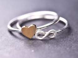 Infinity and Heart Rings - $35.00